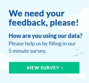 We need your feedback, please! How are you using our data? Please help us by filling in our 5 minute survey. View Survey.