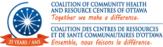 Coalition of Community Health and Resource Centres of Ottawa Logo- Coalition des Centres de Ressources et de Santé Communautaires d'Ottawa