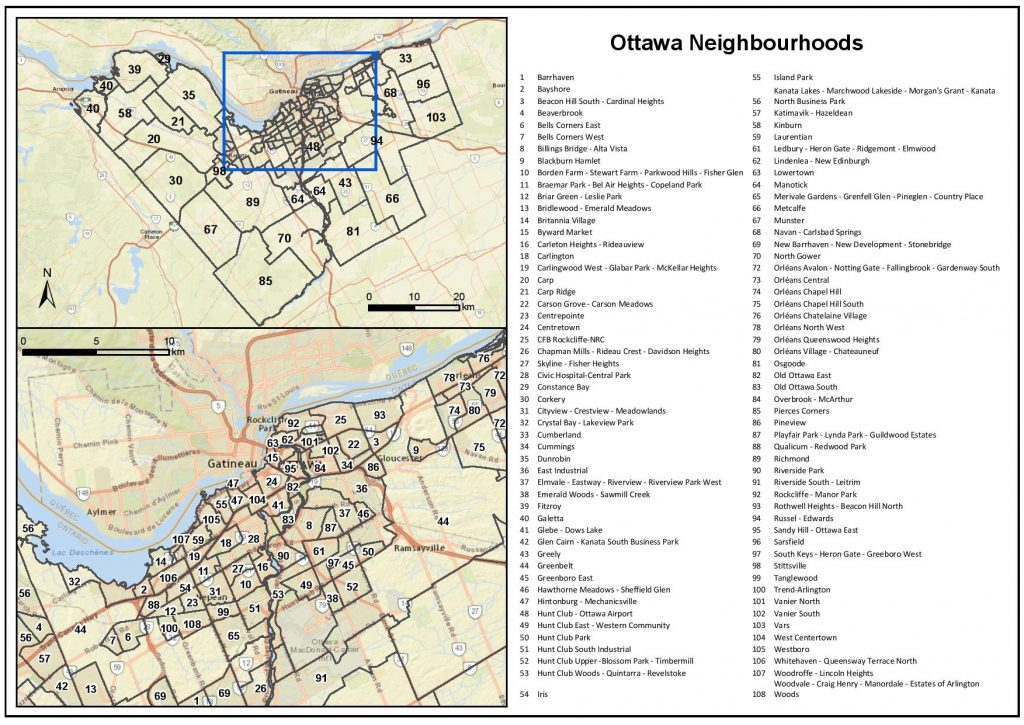 Ottawa Neighbourhood ID's